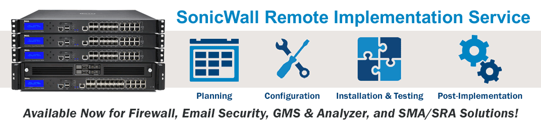 SonicWALL Remote Implementation Services