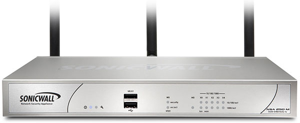 SonicWALL NSA 250M Wireless-N Appliance